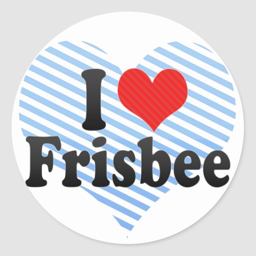 I Love Frisbee Classic Round Sticker