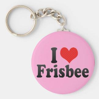 I Love Frisbee Keychain