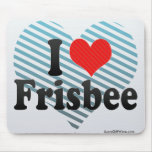 I Love Frisbee Mouse Pad