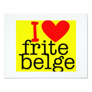I love Frite Belge Invitation Notecards
