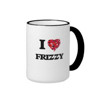 I Love Frizzy Ringer Coffee Mug