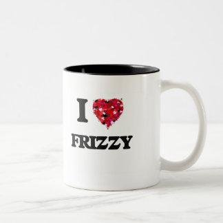 I Love Frizzy Two-Tone Coffee Mug