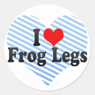 I Love Frog Legs Classic Round Sticker