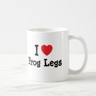 I love Frog Legs heart T-Shirt Coffee Mugs