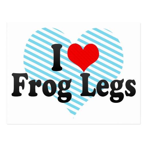 I Love Frog Legs Postcard