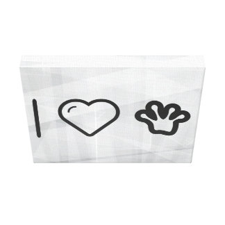 I Love Frog Toes Canvas Print