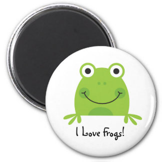 I Love Frogs! 2 Inch Round Magnet