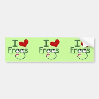 I love FROGS Car Bumper Sticker