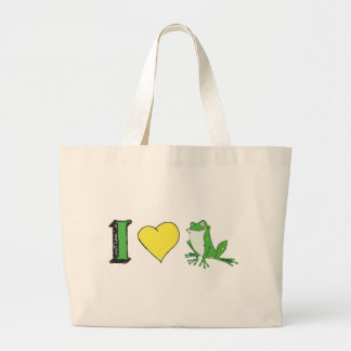 I Love Frogs Canvas Bag