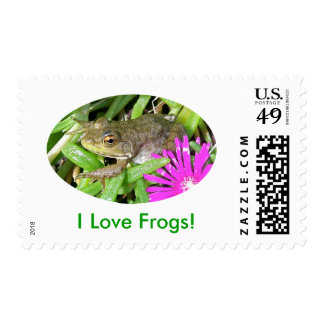 I Love Frogs! Cards, Shirts & Gift Items Postage Stamps