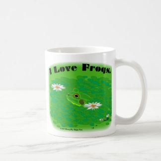 I love frogs. classic white coffee mug