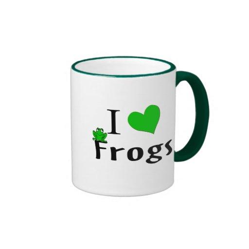 I Love Frogs Coffee Mug