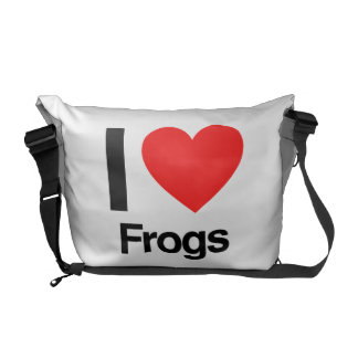 i love frogs courier bags