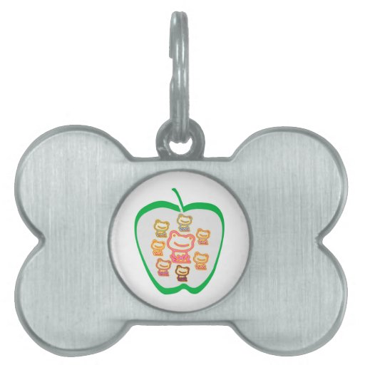 I love FROGS - Just the toy frogs ... Pet ID Tag