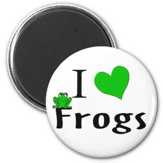 I Love Frogs Fridge Magnets