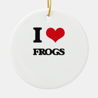 I love Frogs Christmas Ornament
