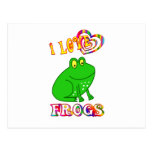 I LOVE FROGS POST CARD