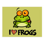 I Love Frogs Post Cards