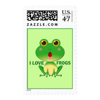 I LOVE FROGS POSTAGE