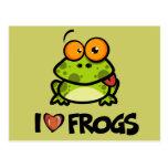 I Love Frogs Postcard