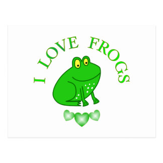 I Love Frogs Postcard