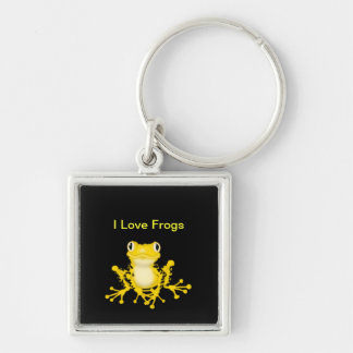 I Love Frogs Premium Keychain