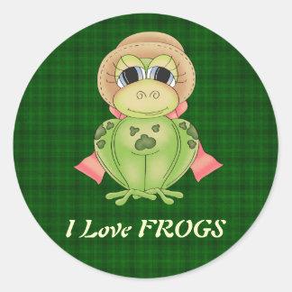I Love FROGS sticker