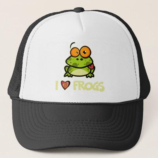I Love Frogs Trucker Hat