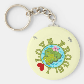 I Love Frogs Tshirts and Gifts Keychain