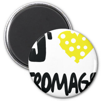 I love fromage icon 2 inch round magnet