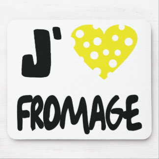 I love fromage icon mouse pad