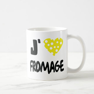 I love fromage icon classic white coffee mug