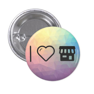I Love Front Houses 1 Inch Round Button