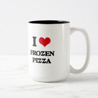 I love Frozen Pizza Two-Tone Coffee Mug