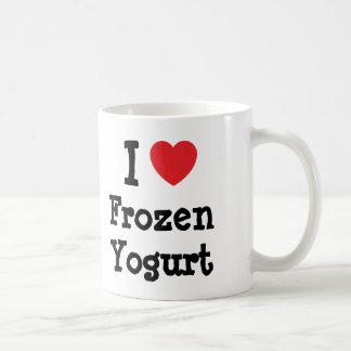 I love Frozen Yogurt heart T-Shirt Coffee Mug