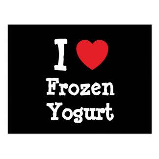 I love Frozen Yogurt heart T-Shirt Postcard