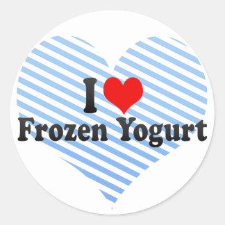I Love Frozen Yogurt Round Sticker