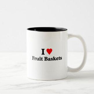 I love fruit baskets Two-Tone coffee mug