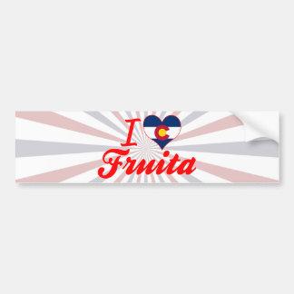I Love Fruita, Colorado Car Bumper Sticker