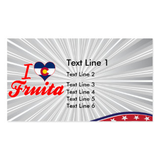 I Love Fruita, Colorado Double-Sided Standard Business Cards (Pack Of 100)