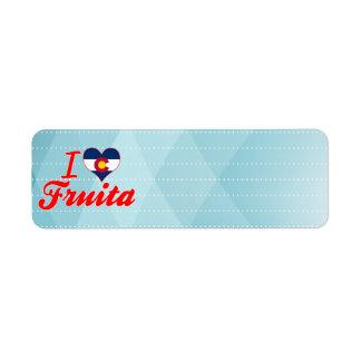 I Love Fruita, Colorado Return Address Label