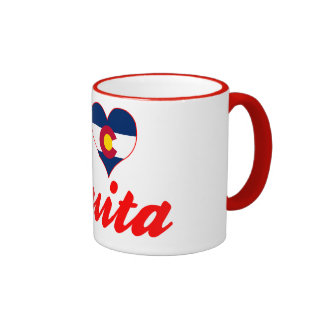 I Love Fruita, Colorado Ringer Coffee Mug