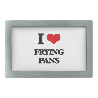 I love Frying Pans Rectangular Belt Buckles