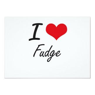 I love Fudge 5x7 Paper Invitation Card