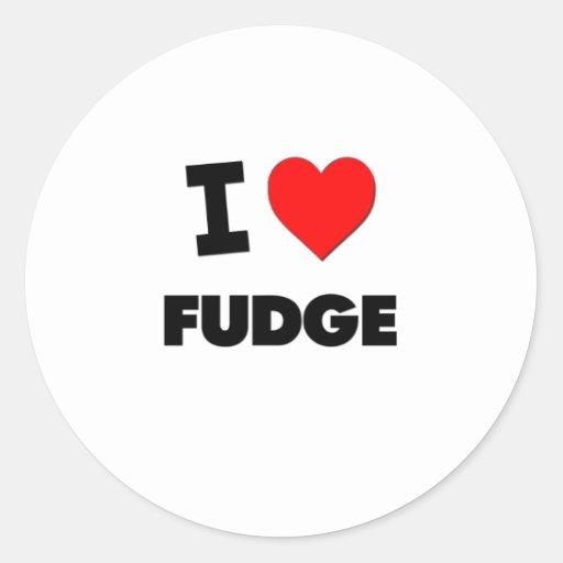 I Love Fudge Classic Round Sticker