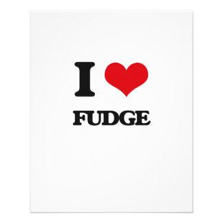 "I love Fudge 4.5"" X 5.6"" Flyer"