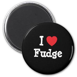 I love Fudge heart T-Shirt 2 Inch Round Magnet