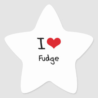 I Love Fudge Star Sticker
