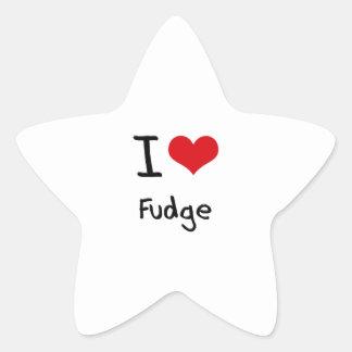 I Love Fudge Star Sticker