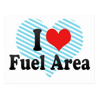 I Love Fuel Area Postcard